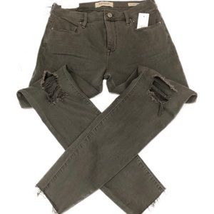 PacSun Perfect Fit Gray Ankle Jeggings size 26